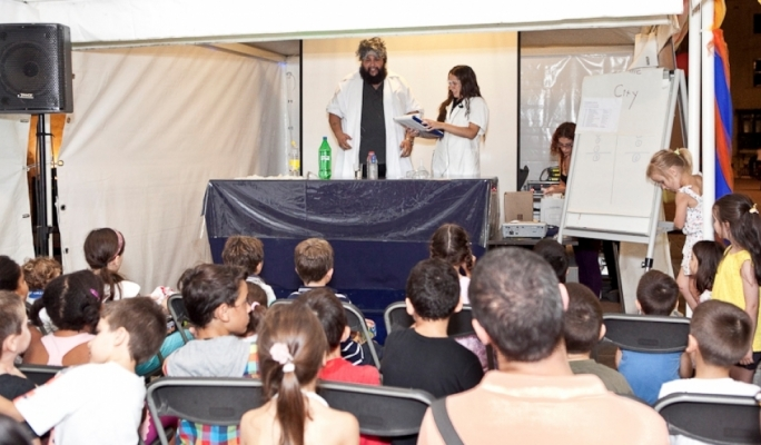 Children's activities at last year's Science in the City festival.