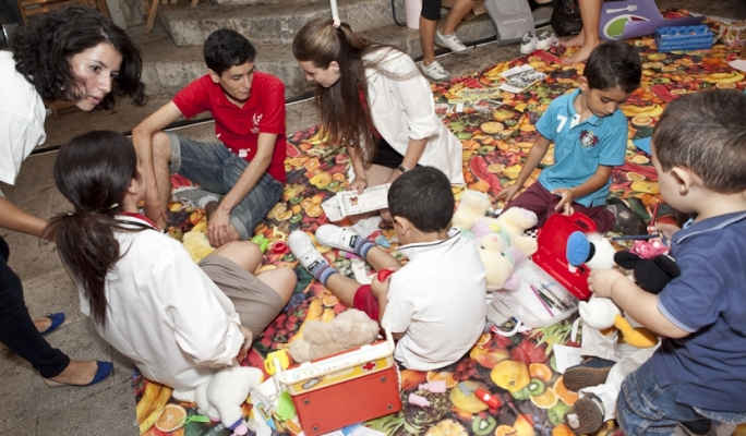 Medical students and the Teddy Bear hospital at last year's Science in the City.