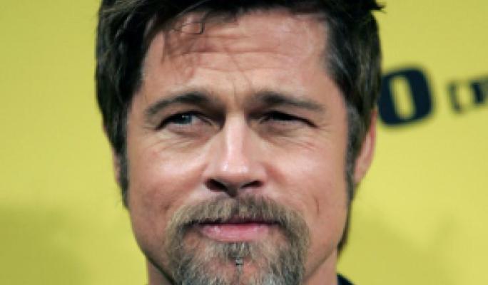 Brad Pitt sports a Van Dyck beard
