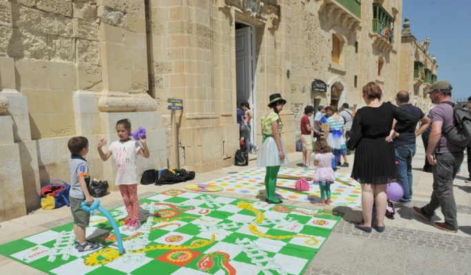 Plenty of games for the kids throughout the weekend at Valletta Waterfront Colour Fest