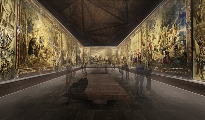 Artist's impression of the tapestry hall