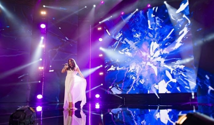 Ira Losco performs her winning song 'Chameleon' •Photo by TVM
