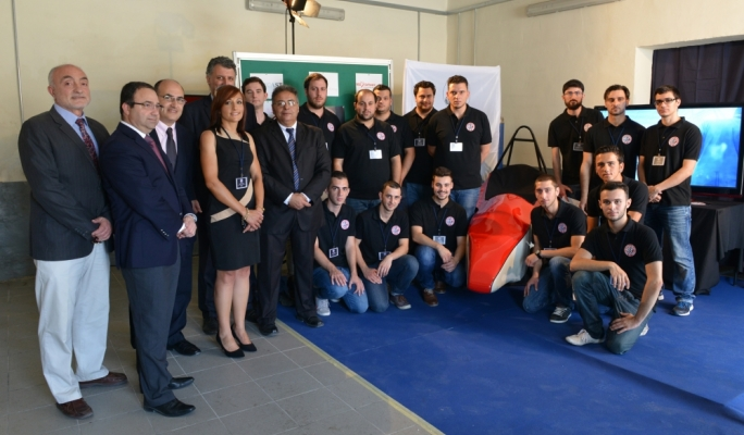 The Team of students and educational directors behind the racing car project • Photo by Ray Attard