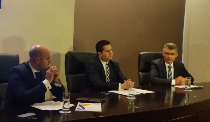 Air Malta CEO Alan Borg, tourism minister Edward Zammit Lewis and MTA CEO Paul Bugeja