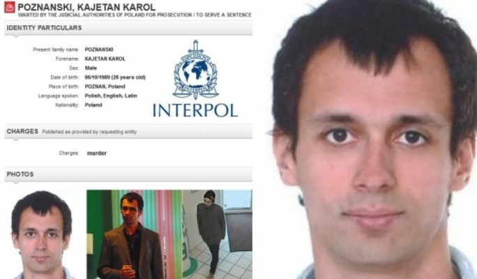 Interpol notice for Kajetan Poznanski