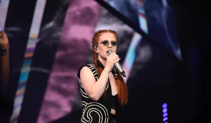 Jess Glynne performs at Isle of MTV . Photo:Chris Mangion