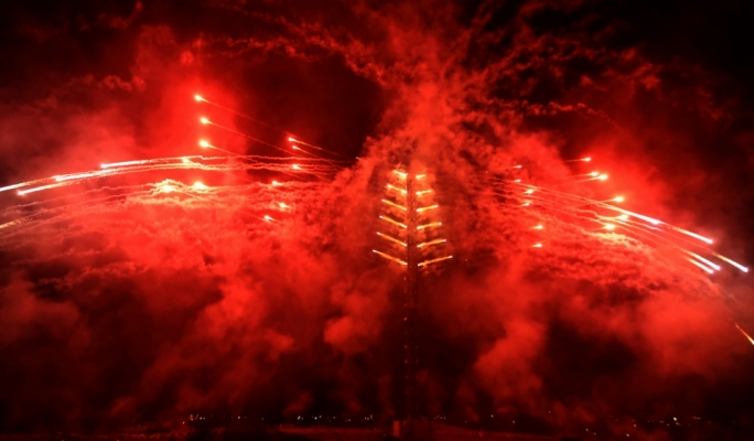 Record-breaking fireworks extravaganza