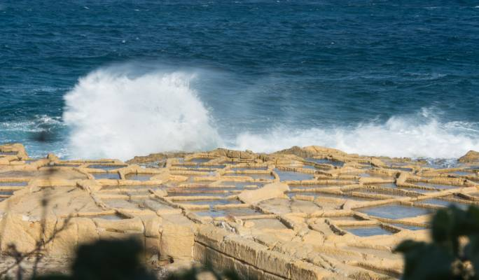 Gale force winds swept over Malta on Tuesday