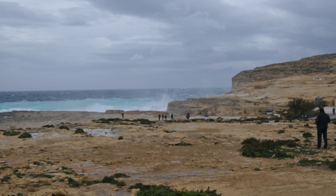 Nature claims Gozo's Azure Window, now lost forever after years of slow disintegration. Photo: Robert Mangion