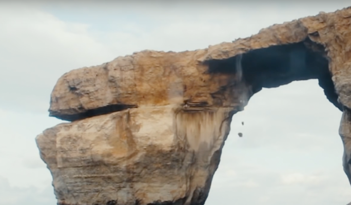 Malta's Azure Window collapses into the sea