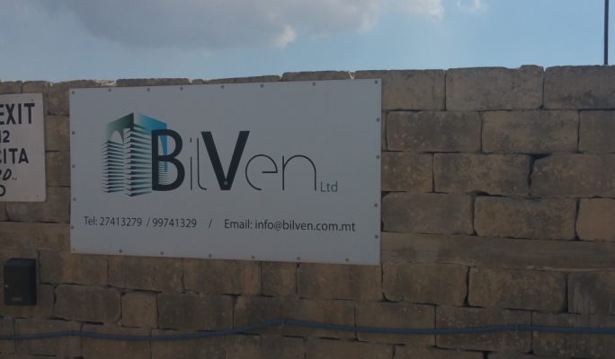 The sign at the entrance of the quarry says it is run by BilVen Ltd, whose director is also a director of Bilom