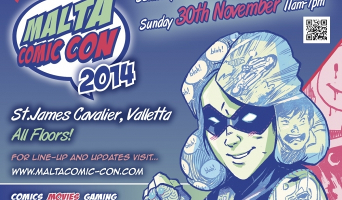 Malta Comic Con 2014 - Poster by Michael Dialynas