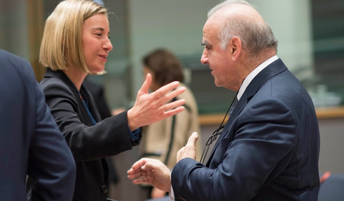 'The EU will stick together,' Mogherini says as Trump takes another swipe at Europe