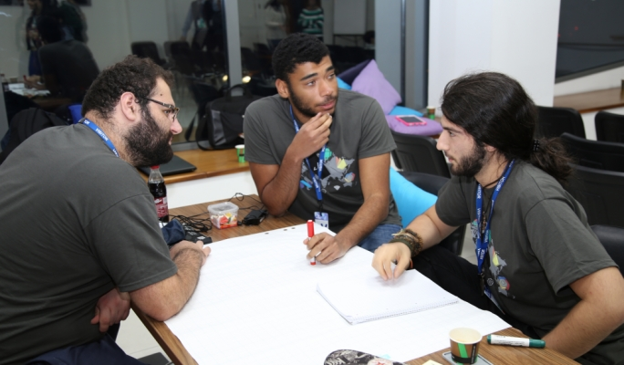 Student-participants in the Game Jam competition