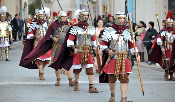 Roman Soldiers in the Good Friday Procession