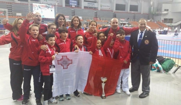 The group competing in Poland