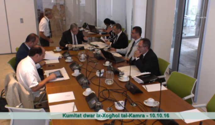 Speaker Anglu Farrugia convenes a House Business Committee meeting following Parliament's summer recess