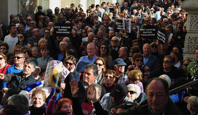 Thousands of protestors attended the PN's protest against corruption • All photos: Ivan Consiglio