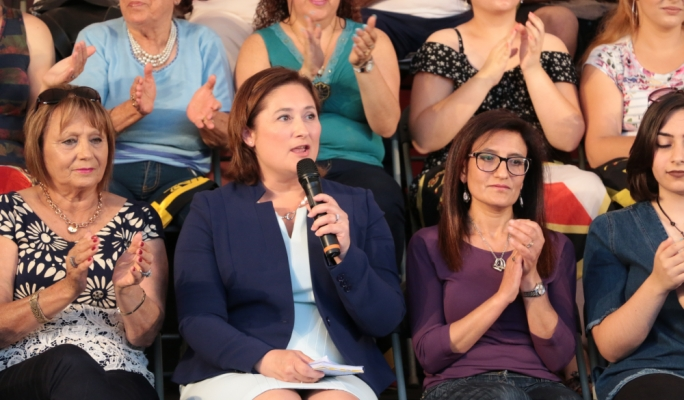 PN MEP Therese Comodini Cachia addresses a political activity in Paola
