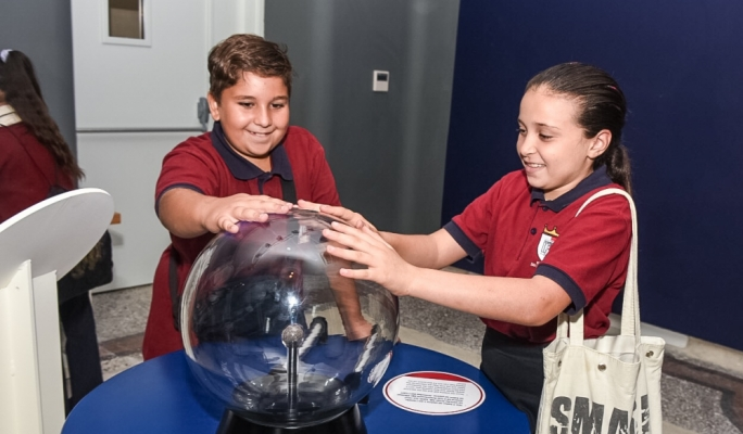 School children experiment with the many interactive exhibits (Photo: Ivan Consiglio)