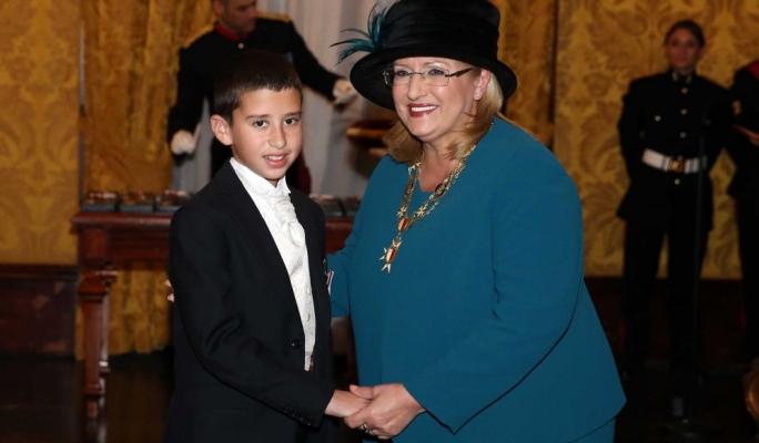 Young hero Karl Curmi was awarded with a Midalja ghall-Qlubija • All photos: Omar Camilleri/DOI