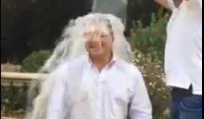Head of government communications Kurt Farrugia takes the ALS ice bucket challenge