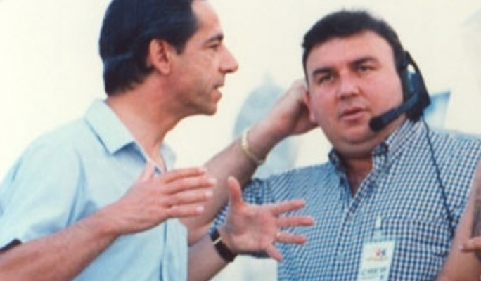 Silvio Zammit (right) was a long-time PN activist. Here he is seen in a photo from the 1990s with Lawrence Gonzi, then secretary-general of the PN.