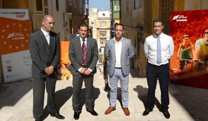 MOVE week was launched earlier this month by the Parliamentary Secretary for Research, Innovation, Youth and Sport, Chris Agius MP, together with Valletta 2018 Chairman Jason Micallef and KMS representative Mark Cutajar in Valletta