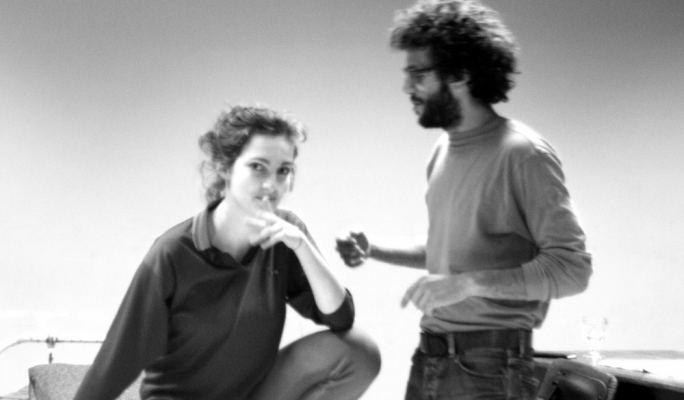 Ruth Borg and director Jimmy Grima during rehearsals for Ma Rridx Immur