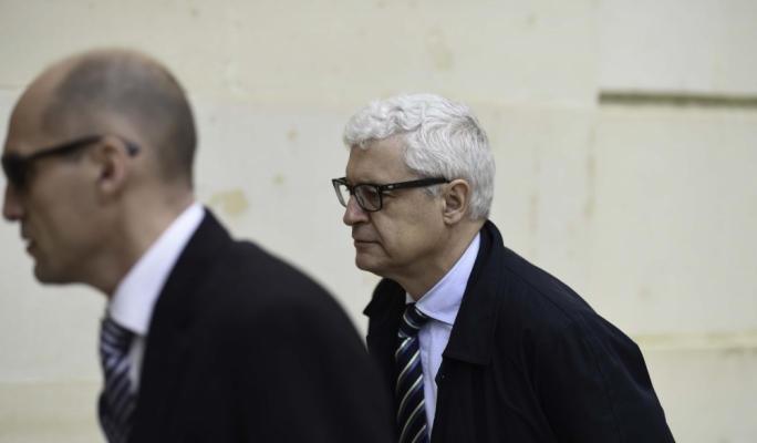 Giovanni Kessler arriving in court