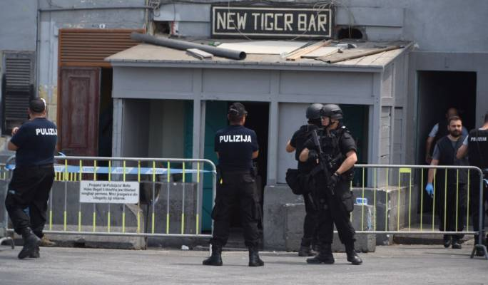 A police raid took place at the Tiger Bar in Marsa, and adjacent building (Photo: James Bianchi/MediaToday)