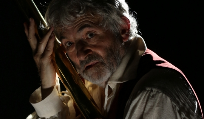 Royal Shakespeare Company veteran Tim Hardy in The Trials of Galileo.