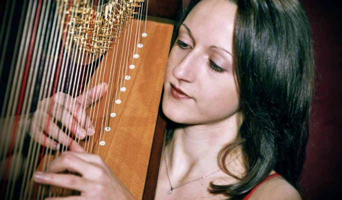 Harpist Caroline Calleja will be perfoming works by Grandjany, Zabel, Salzedo, Tailleferre and Fauré