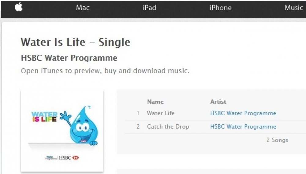 HSBC Malta Water Programme songs now available for download worldwide