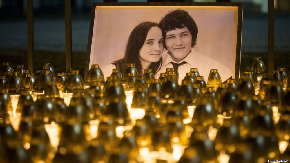 Thousands protest across Slovakia in memory of murdered journalist Jan Kuciak