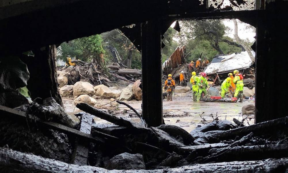 At least 13 people dead in California mudslide