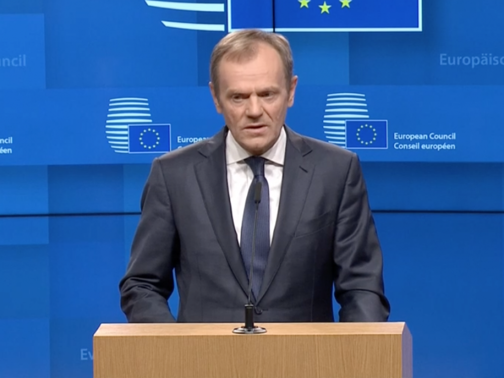 Brexit extension will be conditional, Tusk tells May