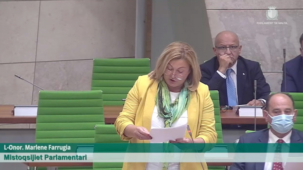 [BREAKING] Marlene Farrugia presents abortion decriminalisation bill in historic first