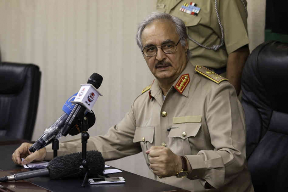Haftar warns against foreign military presence in Libya to stem migration