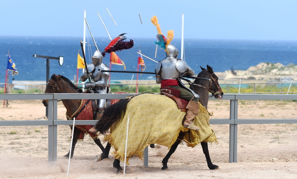 [WATCH] Knights battle it out on horseback at the Malta Jousting Festival