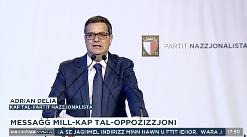 [WATCH] PN leader Adrian Delia reflects on disastrous result: 'We'll not lose heart'