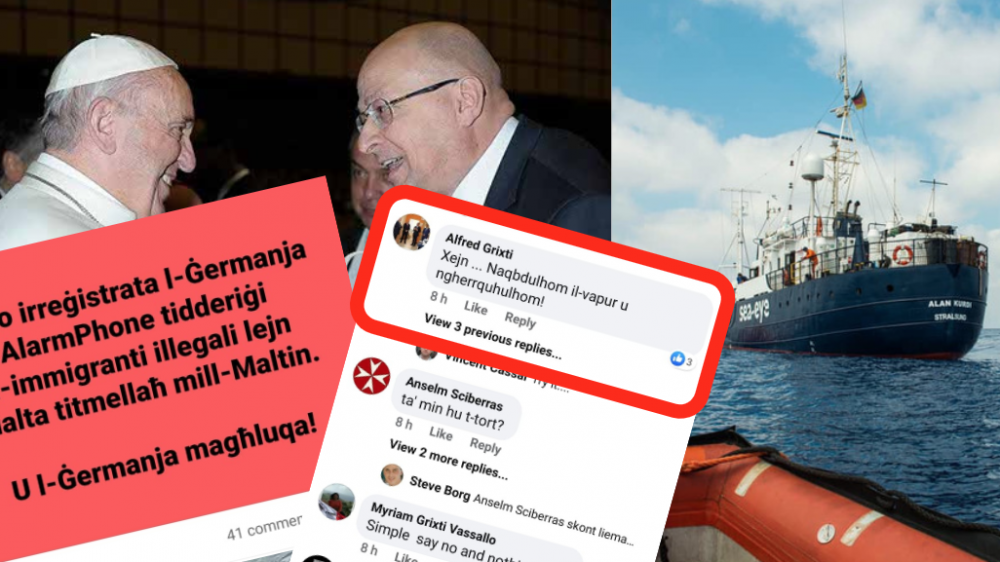 'Seize the boat and sink it!' Malta social welfare boss Grixti on migrants pleading for safe port