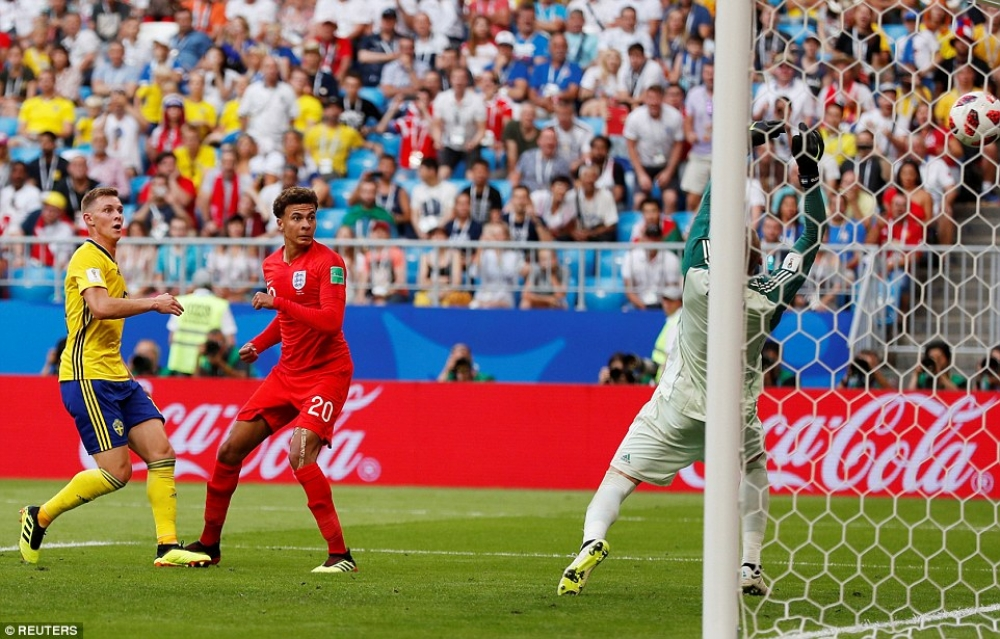 Victory for England as they beat Sweden 2-0 to reach semi-finals