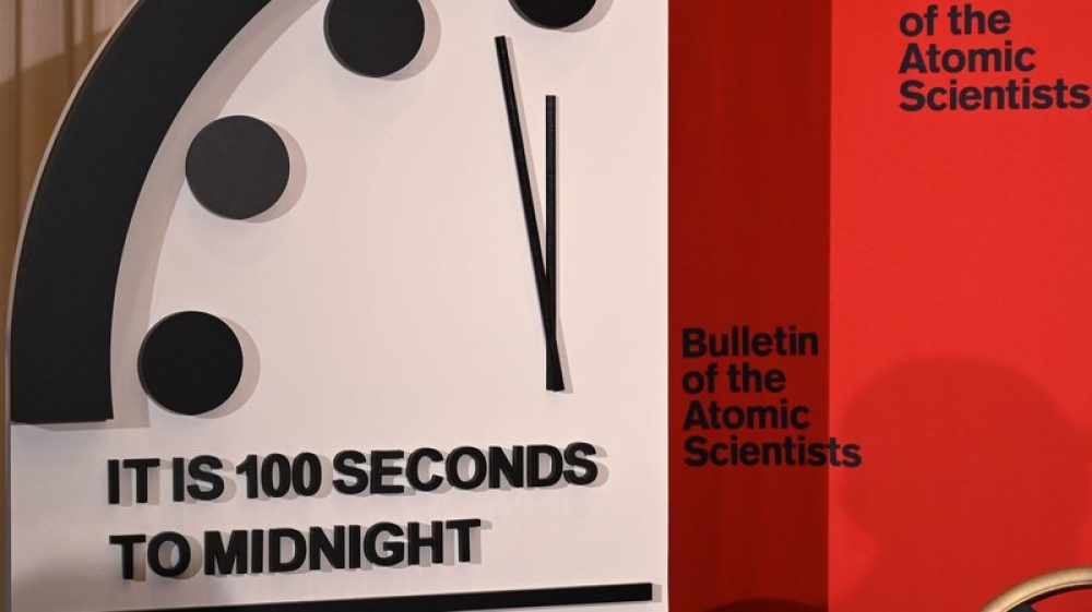 Nobel laureates move 'Doomsday Clock' to just 100 seconds to midnight