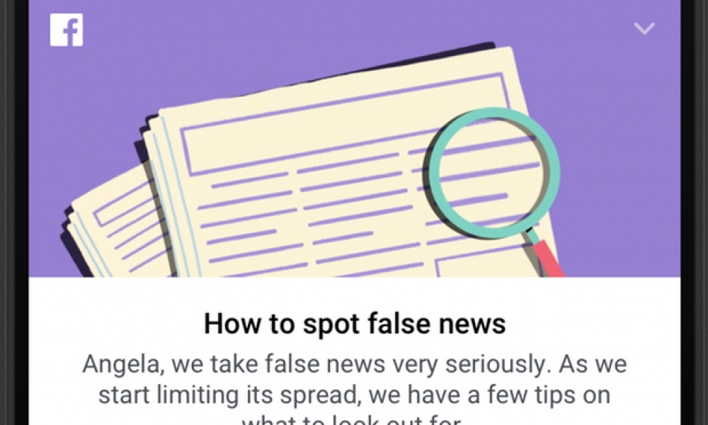Facebook to tackle fake news with educational campaign