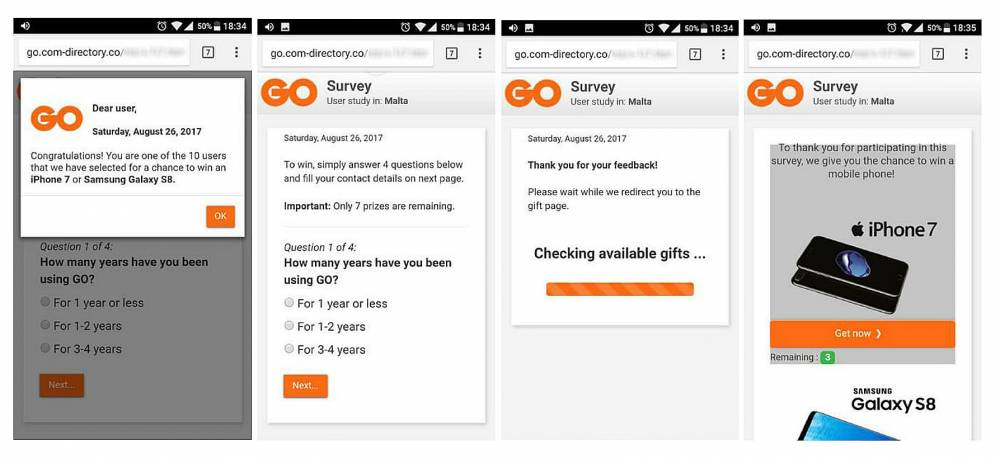 Public warned to be wary of fake GO online survey