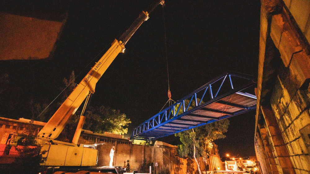 Corradino bridge on Dom Mintoff Road creates safer link for commuters