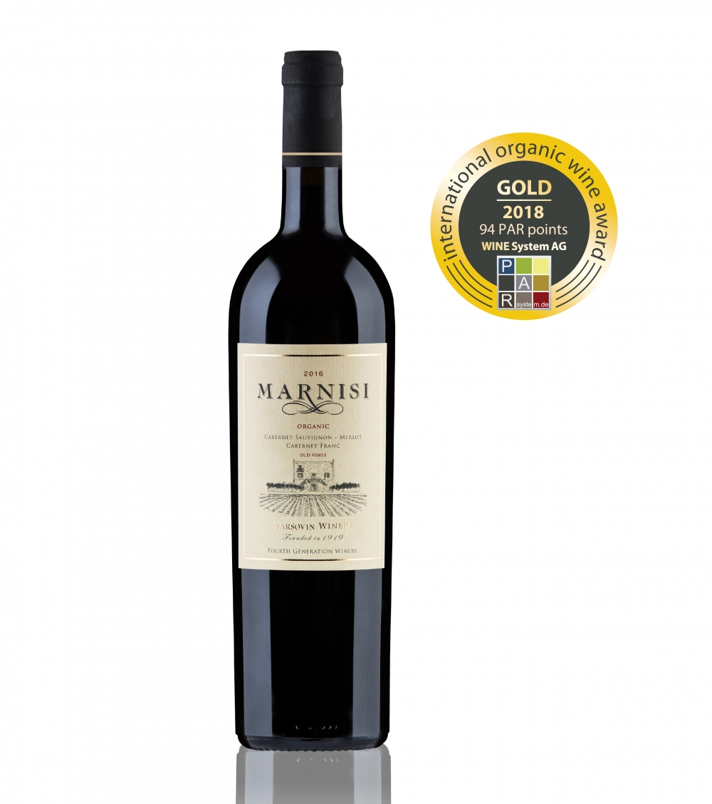 Marsovin's Marnisi Organic wins gold award