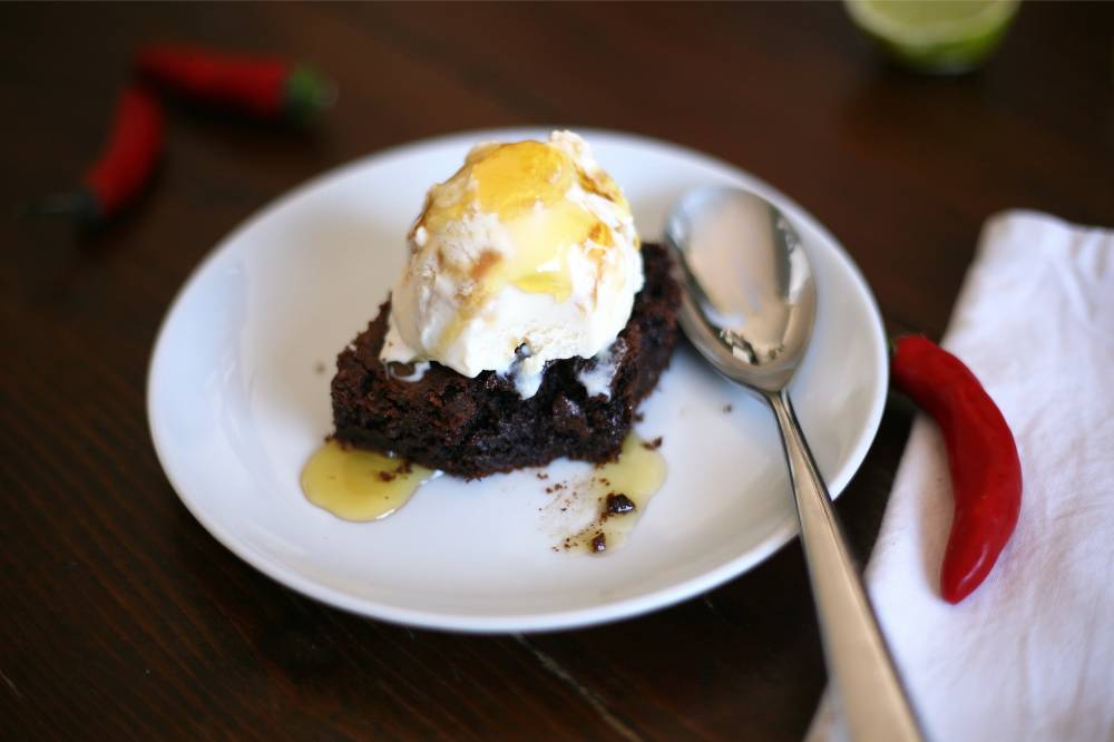 Spicy Mexican brownies