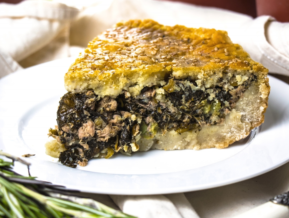 Tuna and spinach pie